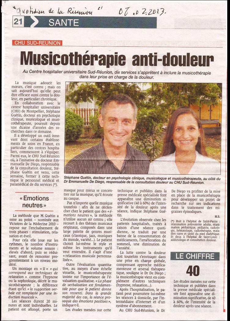 Musicothérapie anti-douleur