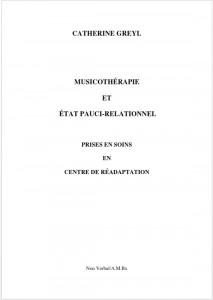 [Parution] Musicothérapie et état pauci-relationnel / Catherine Greyl