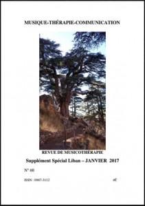 REVUE DE MUSICOTHÉRAPIE  Supplément Spécial Liban – JANVIER 2017