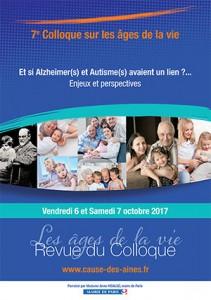 Revue du Colloque – La Cause des aînés 4 – vendredi 6 et samedi 7 octobre 2017 Paris 6ème