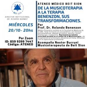 [Espagnol] Ateneo Médico Beit Sion / De la musicoterapia a la terapia Benenzon, sus transformaciones.